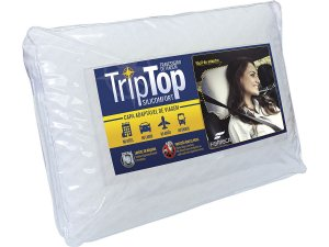 Travesseiro de Viagem Trip Top Para Acoplar na Cabeceira do Carro e Travesseiro de Hotel Fibrasca