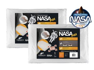 Kit 2 Travesseiros Nasa Plus Alto Fibrasca 50x70cm