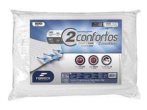 Travesseiro Dois Confortos 50x70cm Fibrasca