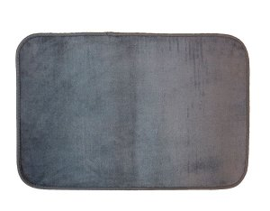 Tapete para Banheiro Antiderrapante Flannel Outlet Cinza Grafite 60x40cm