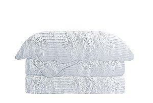 Colcha Matelasse Queen Damask Branco Camesa 240x260cm