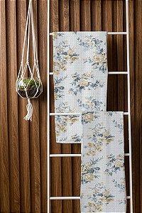 Toalha de Banho Fitness Floral Sissa Azul Camesa 65x120cm