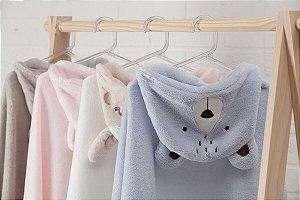 Cobertor Bebê Manta com Capuz Unissex Flannel 75x100cm Camesa