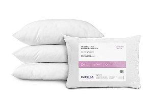 Travesseiro Cotton Premium 180Fios Suporte Firme Camesa 50x70cm