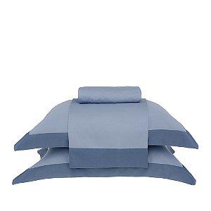 Jogo de Cama Queen Modern Azul Buddemeyer 4 peças 240x250cm