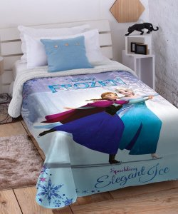 Cobertor Digital Disney Frozen 2 com Sherpa Jolitex 1,50x2,00m