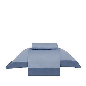 Jogo de Cama Solteiro Modern Azul Buddemeyer 3 peças 170x250cm