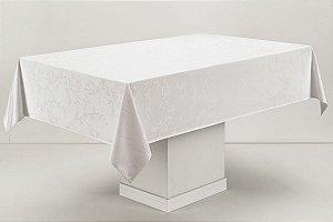 Toalha de Mesa Retangular Karsten Celebration Verissimo Branca 160x320cm 12 lugares