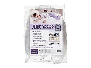 Kit Travesseiro de Corpo Minhocão Para Gestante 25x15cm e Capa 150x20cm Fibrasca