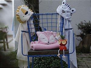 Cobertor Bebê Manta com Capuz Unissex Flannel 75x100 Camesa