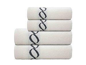 Toalha de Banho Elos Branca Camesa 70x130cm  Algodão
