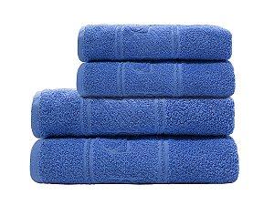 Toalha de Rosto Infantil Happy Carrinho Azul Camesa 45x70cm 100% Algodão
