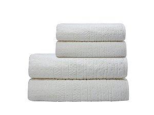 Toalha de Rosto Matrix Branco Camesa 50x80cm 100%Algodão