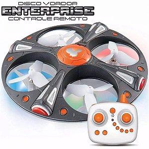 Drone Quadricóptero Disco Voador Enterprise