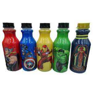 Kit com 5 Garrafas dos Vingadores
