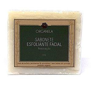 ORGANELA SABONETE FACIAL ESFOLIANTE 60G