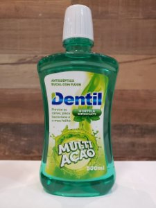 DENTIL ENXAGUANTE BUCAL MULTIAÇÃO HORTELÃ REFRESCANTE 500ML