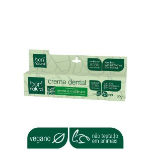 BONI NATURAL CREME DENTAL SEM FLÚOR 90g