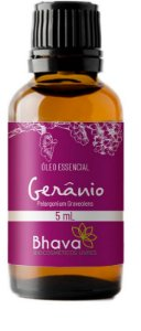 BHAVA ÓLEO ESSENCIAL DE GERÂNIO CERTIFICADO IBD NATURAL 5ml