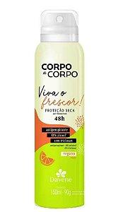 DAVENE DESODORANTE ANTIPERSPIRANTE AEROSSOL CORPO A CORPO FRESCOR 150ml
