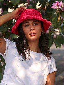 Chapéu de Crochê Solar Rosa