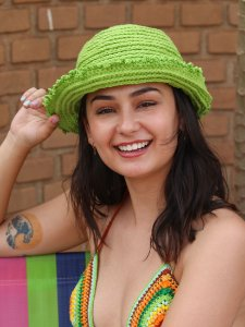 Chapéu de Crochê Solar Kiwi