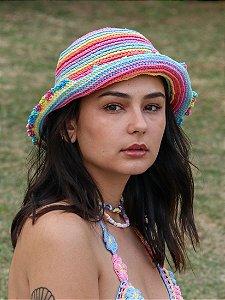 Chapéu de Crochê Solar Pastel Colors