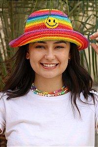 Chapéu de Crochê Smiley