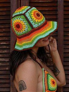 Chapéu de Crochê Patch Girassol