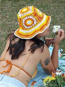 Bucket Hat de Crochê Patch Flower Power