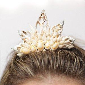 Mini Coroa de Conchas Sereia