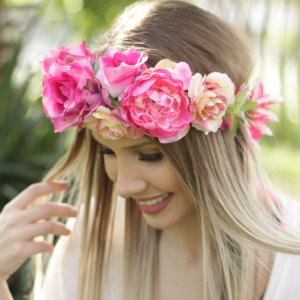 Tiara de Flores Freya