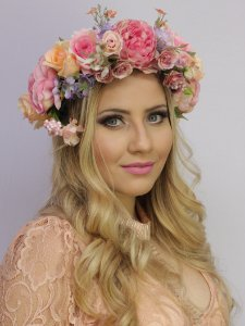 Tiara de Flores Encanto