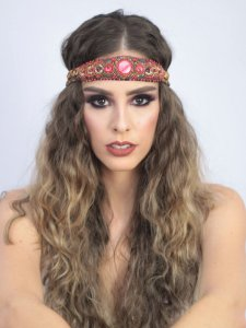 Headband de Penas Duplo Faisão