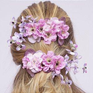 Presilha de Flores Elsa Lilás