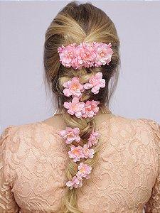 Grampo de Flores Elsa Rosa
