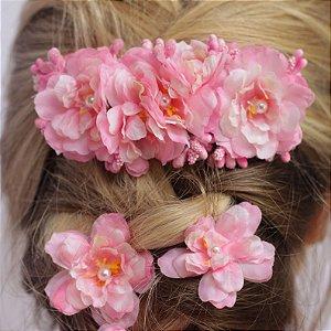 Presilha de Flores Elsa Rosa