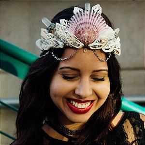 Coroa de Conchas Sereia Claire