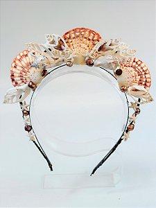 Tiara de Conchas Sereia Electra
