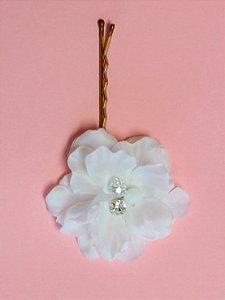 Grampo de Flores União Branco