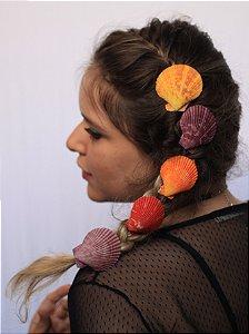 Mini Bico de Pato de Conchas Shell Coloridas