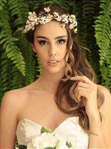 Tiara de Flores Amor Perfeito