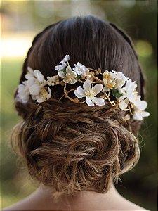 Arranjo de Cabelo Flores Amor Perfeito