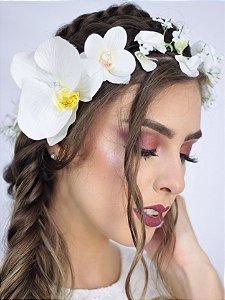Coroa de Flores Orquídea Lateral