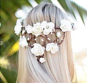 Coroinha de Flores Branco Luz