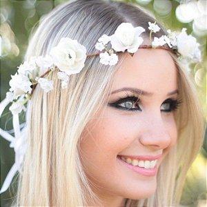 Coroinha de Flores Branco Nuvem