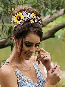 Arranjo de Cabelo Flores Meu Sol