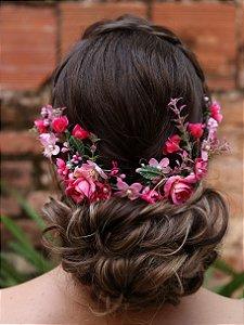 Arranjo de Cabelo Flores Rosamaria