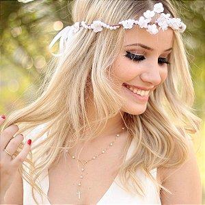 Arco de Flores Branca Suspiro