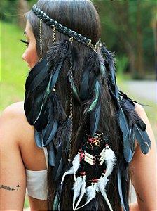 Headband de Penas Gavião